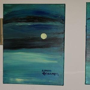 2 Acrylic Paintings on Canvas by Rebecca Leberman